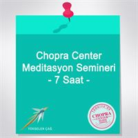 Chopra Center Meditasyon Semineri - 7 Saat
