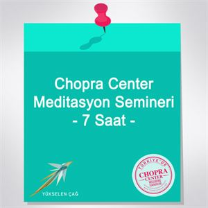 2 Kişi - Chopra Center Meditasyon Semineri